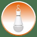 Battery back up light bulb
