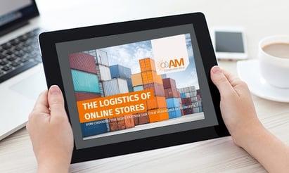 Logistics Ebook in Hand Mockup