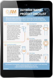 Outdoor Water Product Checklist